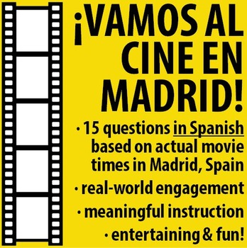 Spanish - We're going to the movies in Madrid, Spain!