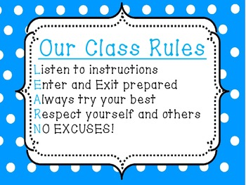 We're ready to LEARN! Class rules