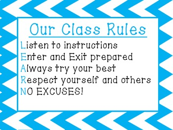 We're ready to LEARN!  Class rules 2