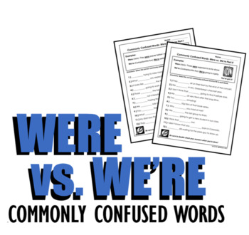 Were vs. We're (Commonly Confused Words Series)