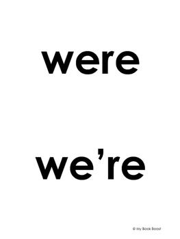 Were vs. We're
