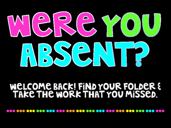 Were you absent sign