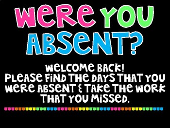 Were you absent - version 3