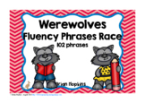 Werewolves Sight Word Fluency Phrases Race