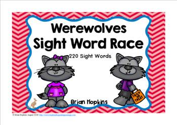 Werewolves Sight Word Race