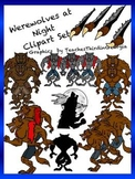 Werewolves at Night Clip Art Collection-Commercial Use