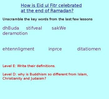Wesak and Buddhism KS3 (2 hrs, inc PP, video, worksheets)