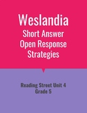 Weslandia Open Response Strategies (Reading Street 2011)