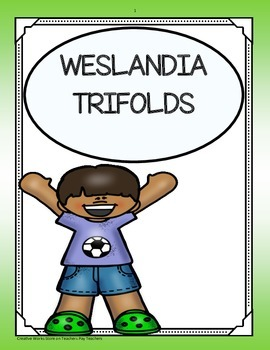 Weslandia ( Reading Street 5th Grade) Trifolds