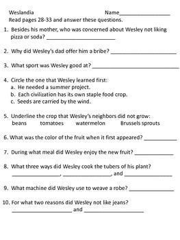 Weslandia--Supplemental Packet--Reading Street Grade 5