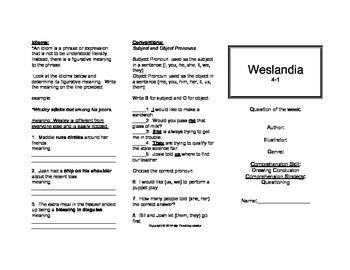 Weslandia Trifold (5th Gr. Reading Street 2011 Edition)