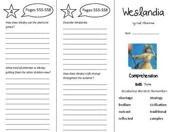 Weslandia Trifold - Treasures 5th Grade Unit 5 Week 2 (2009)