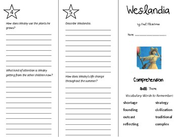 Weslandia Trifold - Treasures 5th Grade Unit 6 Week 4 (2011)