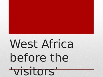 West Africa Before the Visitors