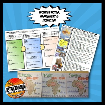 West Africa Empires Foldable and Notes Activity