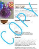 West African Calabash Bowls Art Lesson (elementary art) common core - Culture