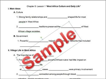 West African Culture Student Outline