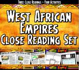 West African Empires Ghana, Mali, Songhai Close Reading & Activity Set