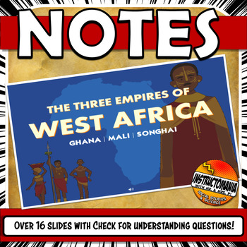 West African Empires Ghana, Mali, Songhai Powerpoint