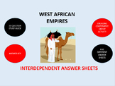 West African Empires:  Interdependent  Answer Sheets Activity