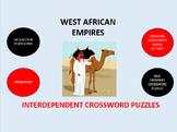 West African Empires:  Interdependent Crossword Puzzles Activity