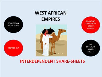 West African Empires:  Interdependent Share-Sheets Activity
