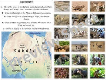 West African Map - Homework