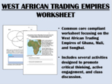 West African Trading Empires worksheet - Global/World History Common Core