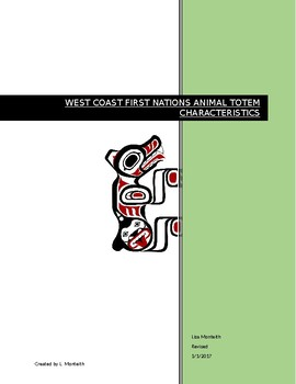 West Coast First Nations Totem Animals