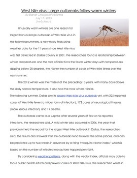 West Nile Reading & Questions
