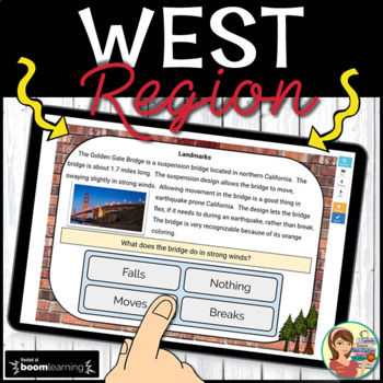 West Region Boom Cards: Digital Task Cards