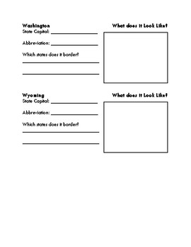 West Region Graphic Organizer
