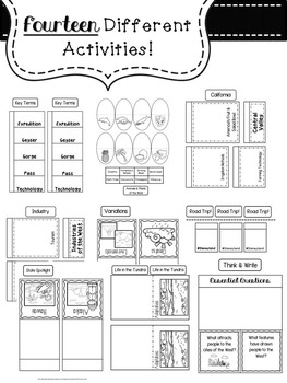 West Region Lapbook & Interactive Notes