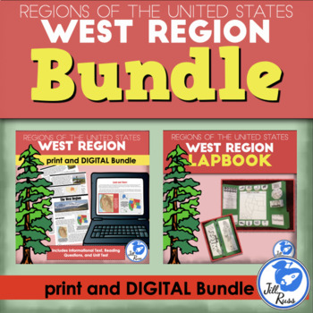 West Region Lapbook and Unit Bundle (5 Regions)