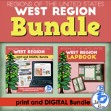 West Region Lapbook and Unit Bundle Print and Distance Learning
