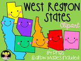 West Region States Clipart
