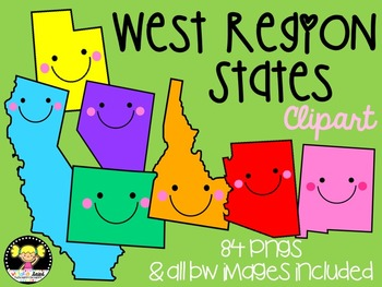 West Region States Clipart