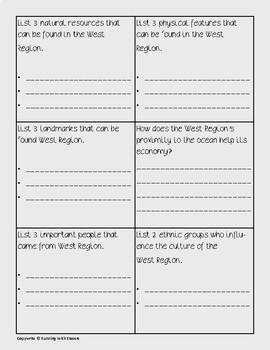 West Region Task Cards