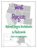 West Region Worksheets and Flashcards. Matching. Label. Capitals and location