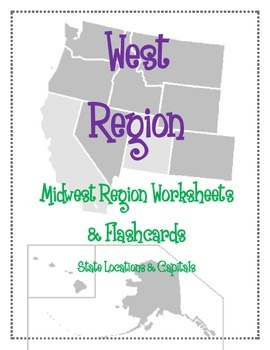 capitals and location west region worksheets and flashcards matching label capitals and location