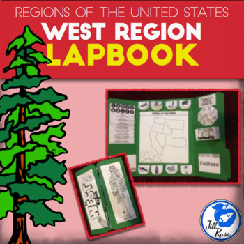 West Region of the United States Lapbook or Interactive Notebook