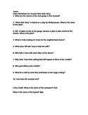 West Side Story Movie Worksheet