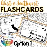 West & Southwest United States Flashcards, States, Capital