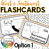 West & Southwest States Flashcards, States, Capitals, Abb.