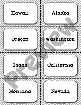 West & Southwest United States Flashcards, States, Capitals, Abb. {Option 4}