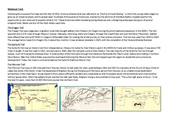 West,Texas Settlement, Mexican-American War, Trails, and Oregon Module Activity