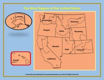 West United States Region Interactive Notebooks Set