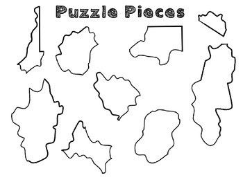 West Virginia Regions- A cut and paste activity