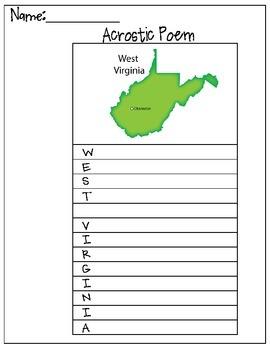West Virginia Acrostic Poem