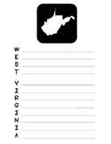 West Virginia State Acrostic Poem Template, Project, Activ
